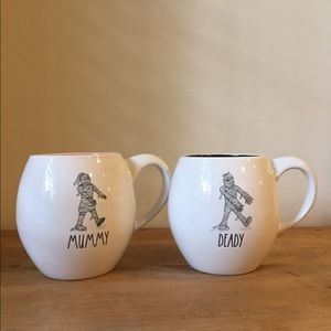 Rae Dunn Mummy and Deady Mugs
